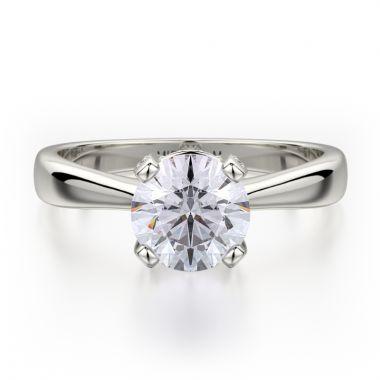 Michael M 18k White Gold Love Engagement Ring