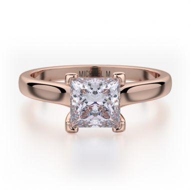 Michael M 18k Rose Gold Europa Engagement Ring
