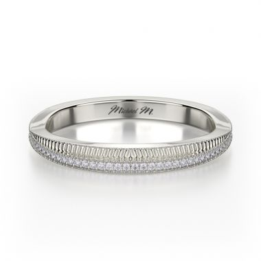 Michael M 18k White Gold Amore Twist Women's Wedding Band