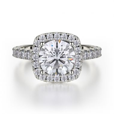 Michael M 18k White Gold Monaco Engagement Ring