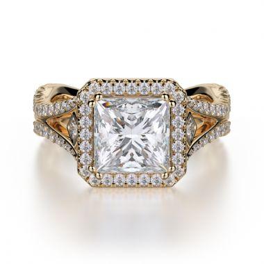 Michael M 18k Yellow Gold Monaco Engagement Ring