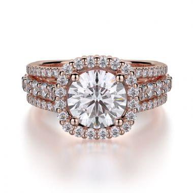 Michael M 18k Rose Gold Stella Engagement Ring