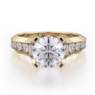 Michael M 18k Yellow Gold Strada Engagement Ring