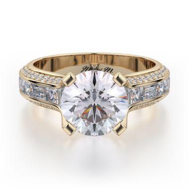 Michael M 18k Yellow Gold Stella Engagement Ring