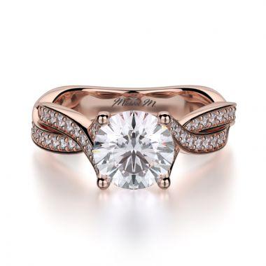 Michael M 18k Rose Gold Love Engagement Ring
