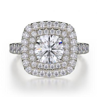 Michael M 18k White Gold Loud Engagement Ring
