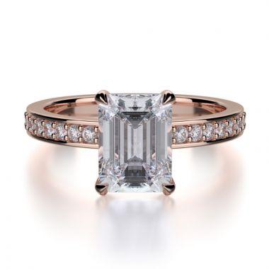 Michael M 18k Rose Gold Bold Engagement Ring