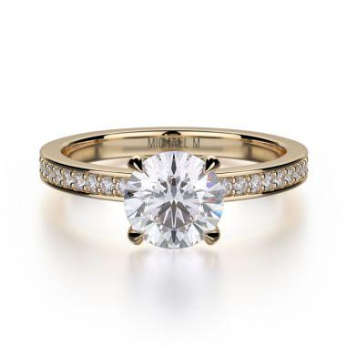 Michael M 18k Yellow Gold Bold Engagement Ring