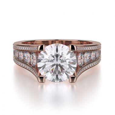 Michael M 18k Rose Gold Loud Engagement Ring