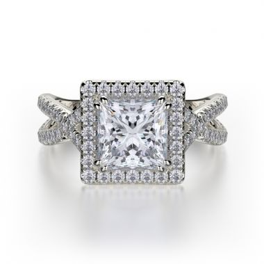 Michael M 18k White Gold Defined Engagement Ring