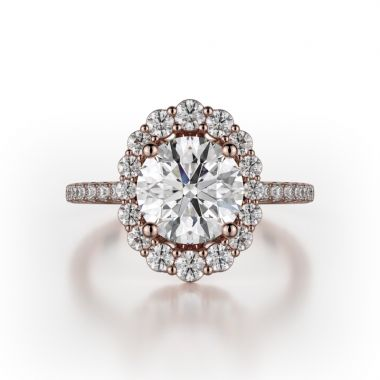 Michael M 18k Rose Gold Defined Engagement Ring