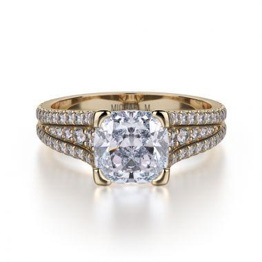 Michael M 18k Yellow Gold Loud Engagement Ring