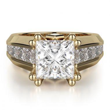 Michael M 18k Yellow Gold Princess Engagement Ring