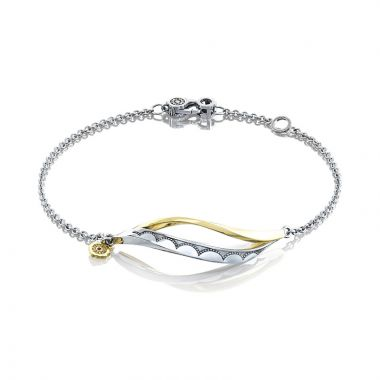 Tacori Sterling Silver and 18k Yellow Gold Crescent Cove Women's Bracelet