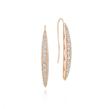 Tacori 18k Rose Gold The Ivy Lane Diamond Drop Earring