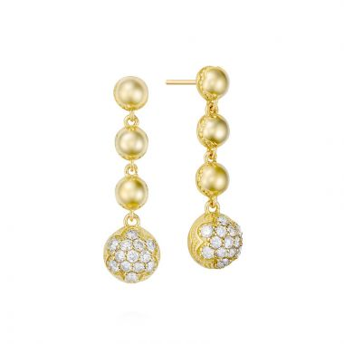 Tacori 18k Yellow Gold Sonoma Mist Diamond Drop Earring