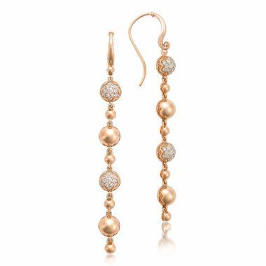 Tacori 18k Rose Gold Sonoma Mist Diamond Drop Earring