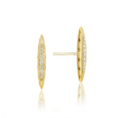Tacori 18k Yellow Gold The Ivy Lane Diamond Stud Earring
