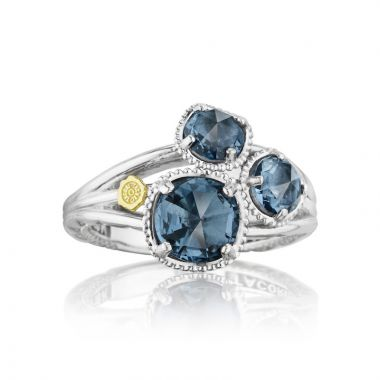 Tacori Sterling Silver Gemma Bloom Gemstone Men's Ring
