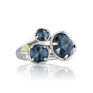 Tacori Silver Budding Brilliance London Blue Topaz Ring