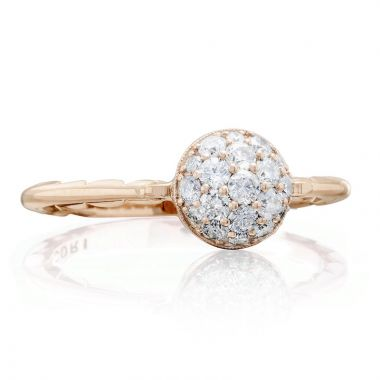 Tacori 18k Rose Gold Sonoma Mist Diamond Men's Ring
