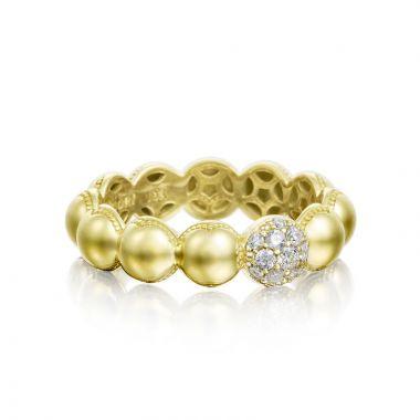 Tacori 18k Yellow Gold Sonoma Mist Diamond Men's Ring