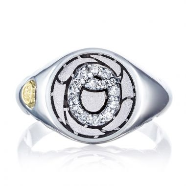 Tacori Sterling Silver Love Letters Diamond Men's Ring