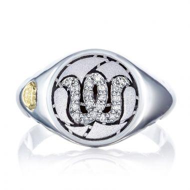 Tacori Sterling Silver Love Letters Diamond Men's Ring