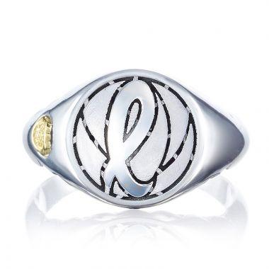 Tacori Sterling Silver Love Letters Men's Ring