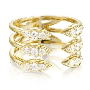 Tacori 18k Yellow Gold The Ivy Lane Diamond Men's Ring