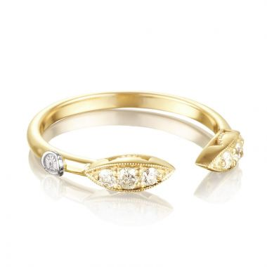 Tacori 18k Yellow Gold The Ivy Lane Diamond Men's Ring