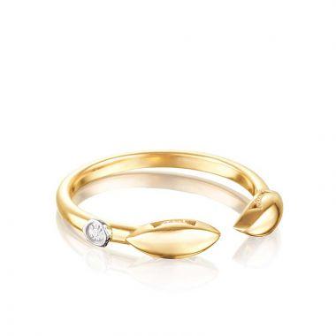 Tacori 18k Yellow Gold Surfboard Ring
