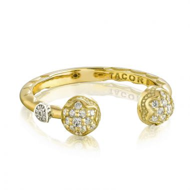 Tacori 18k Yellow Gold Sonoma Mist Diamond Men's Ring