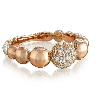 Tacori 18k Rose Gold The Ivy Lane Diamond Men's Ring