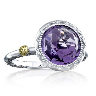 Tacori Sterling Silver Crescent Embrace Gemstone Ring
