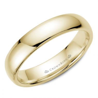 CrownRing 14k Yellow Gold Traditional 5mm Wedding band