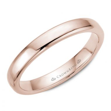 CrownRing 14k Rose Gold Traditional 3.5mm Wedding band
