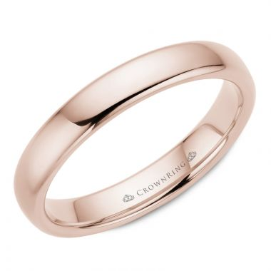 CrownRing 14k Rose Gold Traditional 4mm Wedding band