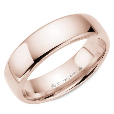 CrownRing 14k Rose Gold Traditional 6.5mm Wedding band