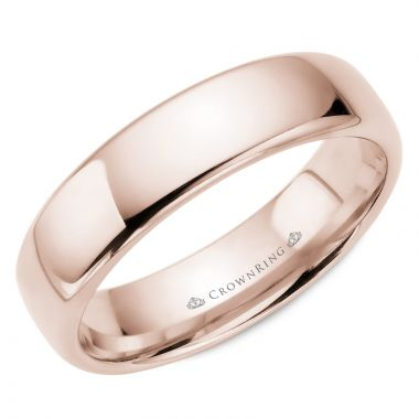CrownRing 14k Rose Gold Traditional 6mm Wedding band