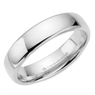 CrownRing 14k White Gold Traditional 5.5mm Wedding band