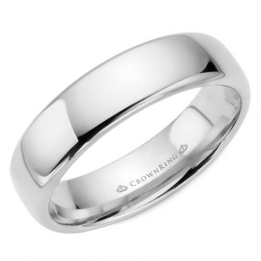 CrownRing 14k White Gold Traditional 6mm Wedding band