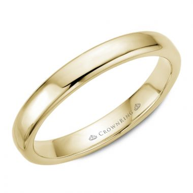 CrownRing 14k Yellow Gold Traditional 3.5mm Wedding band
