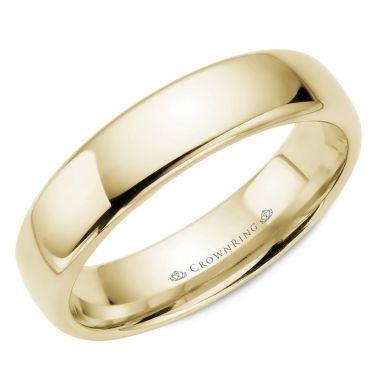 CrownRing 14k Yellow Gold Traditional 5.5mm Wedding band