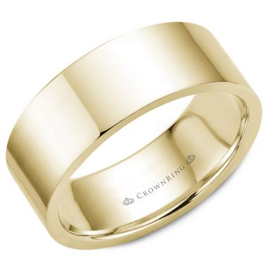 CrownRing 14k Yellow Gold Traditional 8mm Wedding band