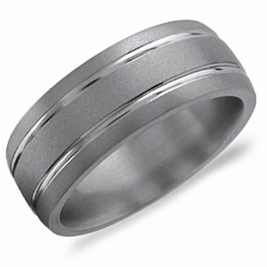 Crown Ring Titanium Classic Wedding Band