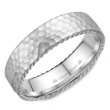 CrownRing 14k White Gold Rope 6mm Wedding band