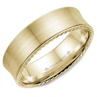 CrownRing 14k Yellow Gold Rope 7mm Wedding band
