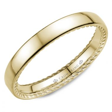 CrownRing 14k Yellow Gold Rope 2.5mm Wedding band
