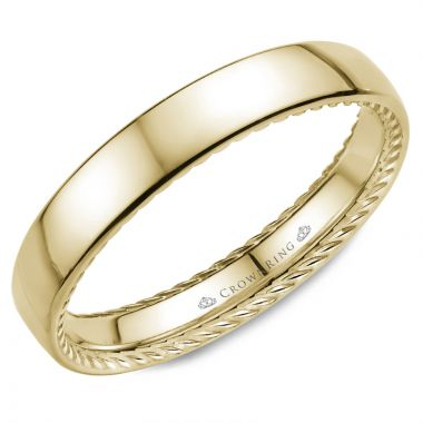 CrownRing 14k Yellow Gold Rope 3.5mm Wedding band
